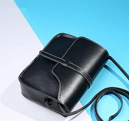 ZXH Frühling und Sommer Messenger Schultertasche Damen Handtasche retro kleine quadratische Paket F