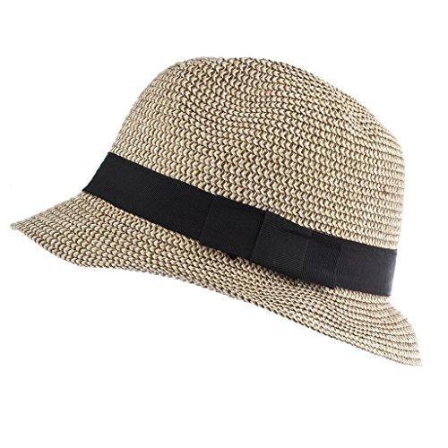 schwarz Leinwand Stroh Fedora Hat (Kleinkind-partei-bevorzugungen)