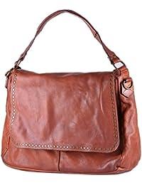 c9c18278d3 BORDERLINE - 100% Made in Italy - Borsa da Donna in Vera Pelle - Stile