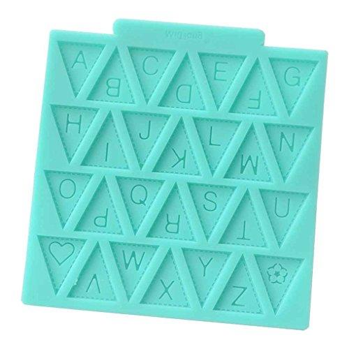Unbekannt Coco Buchstabe-Flaggen-Fondant-Form-Silikon-Kuchen, der Handwerks-Zuckerbonbon-Schokoladen-Form Verziert