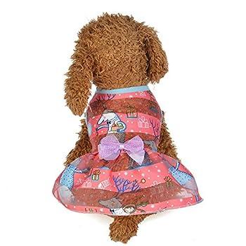 Chiens Textiles et Accessoires,Printemps Et éTé Robe ColoréE Princesse Costumes pour Chiens VêTements pour Animaux De Compagnie,Chiens Sweats à Capuche (XL, E)