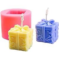 Candela 3D muffa DIY Stereo Soap stampo in silicone Cilindro fondente Confezione regalo Casting per DIY Crafts Fare