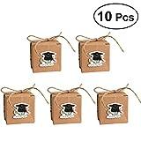 LUOEM cajas de regalo de graduación para dulces, cajas de papel kraft para graduación, regalos de fiesta, 10 unidades (diploma azul)