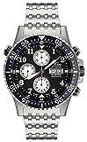 Xezo Air Commando Armbanduhr, Taucheruhr, Piloten-Stil, Schweizer Valjoux 7750 Automatik-Uhrwerk, nicht reflektierend, Saphirglas, Durchmesser: 45mm