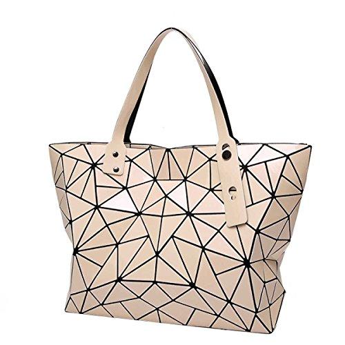 Frauen Unregelmäßige Geometrische Falttasche Mode Schulter Handtasche Pink
