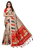Ishin Silk Saree with Blouse Piece (Ishinscshb-CA-03_Beige_Free)
