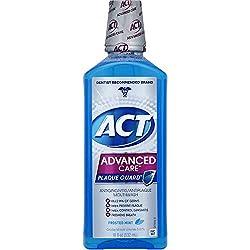 ACT Advanced Care Plaque Guard Frosted Mint Antigingivitis/Antiplaque Mouthwash, 18 fl oz