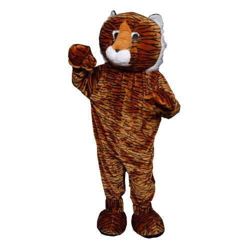 (Dress Up America Unheimlich Tiger Maskottchen Kostüm für Erwachsene)