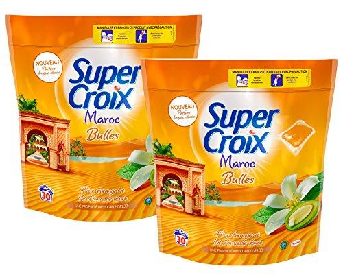 Super Croix Maroc Lessive Liquide en Dose 30 Doses / 30 Lavages - Lot de 2