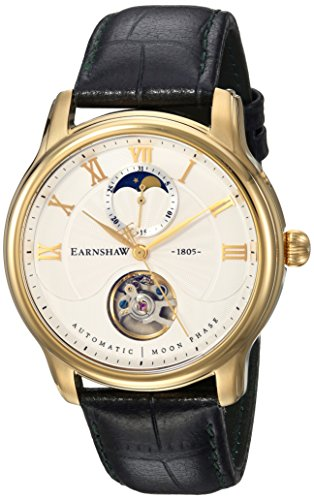 Thomas Earnshaw Mixte Adulte Phase de Lune Automatique Montre avec Bracelet en Cuir ES-8066-03