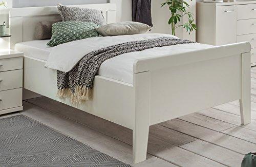 Seniorenbett Moebel bv-vertrieb 90×190 Weiss höhenverstellbar Komfortbett – (3113)
