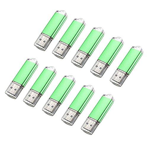 LaDicha 10 X 128 Mb USB 2.0 Flash-Laufwerk Candy Green Memory Speicher Daumen U Festplatte Candy-bar-handys