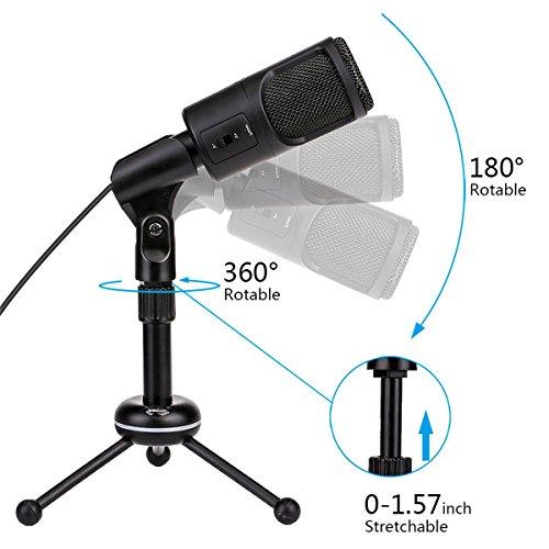 Desktop Condenser Microphone,USB Plug & Play Recording Podcast