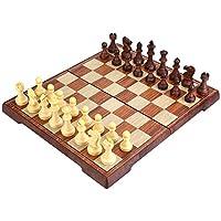 Peradix Deluxe Schachspiel Schach mit Magnetisches Faltschachbrett 35*30cm