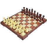 Peradix Schachspiel Schach mit Deluxe Magnetischem FaltbaremSchachbrett 35*30cm Braun