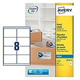 Avery J8165-25 Quick Dry Etichette, 8 Pezzi per Foglio, 25 Fogli, 99.1 x 67.7, Bianco