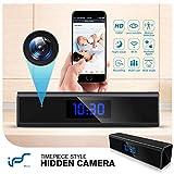 Caméra Espion,1080P Mini Camera Espion WiFi Réveil Caméra de Surveillance de...