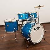 JustIn Studio Series Junior 16 Drum Bundle, Kinderschlagzeug, Blue Sparkle