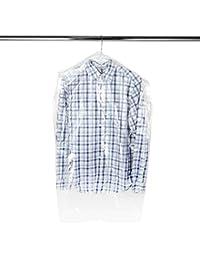 Hangerworld Lot de 50 Housses de Vêtements Pressing 97cm Calibre 100
