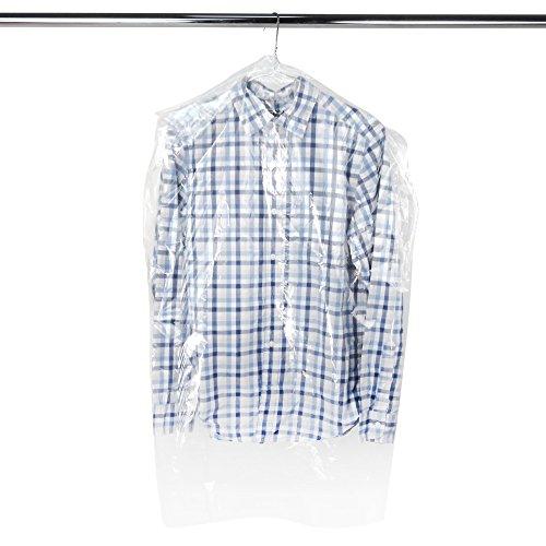 50 transparente Bekleidungsschutzhüllen aus Polyethylen Länge: ca. 96,5 cm Hangerworld