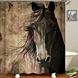 "Decdeal Shower Curtain Animal Print Blackout Curtains Waterproof Mildew-Proof Bathroom Curtain 71""x71"""