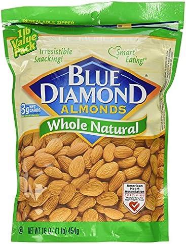 Whole Natural Almonds, 1lb