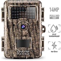 """CampFENSE Cámara de Pista de Caza Brillo, IP67 a Prueba de Agua, 14MP 1080P 2.4""""LCD, Tiempo de activación <0.3s, 940 NM IR Visión Nocturna a Prueba de corrosión para Cazadores"""