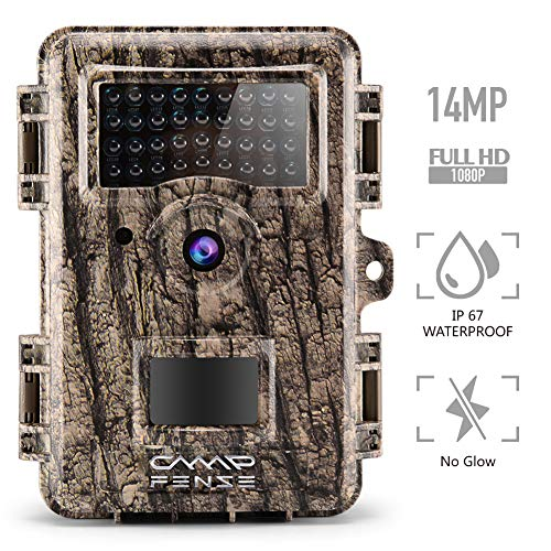 """CampFENSE Wildkamera Wildtierkamera Jagdkamera 14MP 1080P Full HD 2.4"""" LCD, Wasserdichte IP67 Trigger Time<0.3s 940nm Nachtsicht wildcamera für Outdoor-Natur, Garten, Haussicherheitsüberwachung"""
