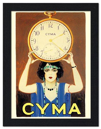 cyma-watches-advert-framed-print-32x42cm-black