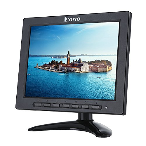 8 inch TFT LED Monitor 1024x768 Resolution Display Portable 4:3 IPS HD Color Video Screen Support HDMI VGA BNC AV USB Input for PC CCTV Raspberry Pi (8'' LED 1024x768 160)