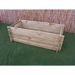stabiler Holzkomposter Komposter Kompostbehälter Hochbeet 170 x 85 x 52 cm 19 mm
