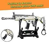 Charminer Arma Scar Guns Pistola 3D Modelo Llavero de Metal, Tamaño 6.8'/ 17cm, Regalo Accesorios Cosas Objetos para Niños Hombre Juego Fans