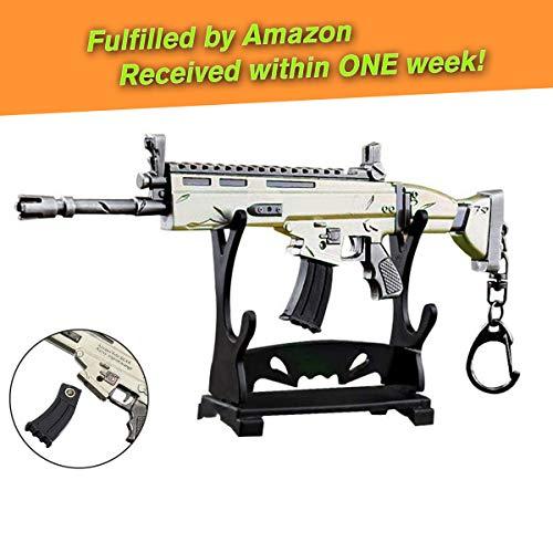 """Charminer Armi SCAR L pistola fucile fucile giocattolo modello in metallo, Scar Light Rifle Modello 3D Portachiavi Dimensione 6.8 \""""/ 17 cm Arma replica accessori per bambini adulti ragazzi"""