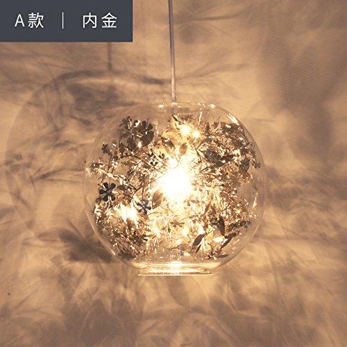 VanMe Lampadario In Vetro Rotondo Lampadario Illuminazione Creativa Minimalista Moderno Nordic Creativo Soggiorno Sala Da Pranzo,A,D'Oro