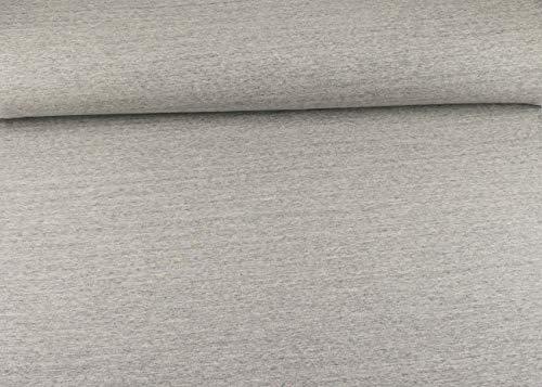 Qualität Baumwolle Stoff (SK Stoffe Excellenter Baumwoll Sweat I Jogging Stoff Uni I hellgrau - weiß Meliert ALS Meterware | Maße: 25 cm x ca. 145 cm | 1A ÖKO-TEX Qualität Standard | FKS Stoffe)
