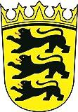 U24 Aufkleber Baden-Württemberg Wappen 18 x 26 cm Autoaufkleber Sticker Konturschnitt