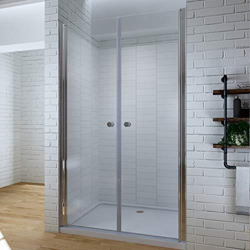 110cm Duschabtrennung Duschtür Nischentür Pendeltür Duschwand Schwingtür mit Nano Besc