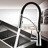 Sweepid 360° Drehbar Wasserhahn Küche Ausziehbar Armatur Waschbeckenarmatur Einhandarmatur Spültischarmatur Ventil