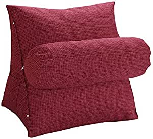 NIBESSER Oreiller de Lecture Coussin Cale Dos pour Salon Chambre Oreiller Traversin Canap/é Reading Pillow