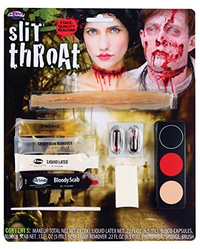 Horror-Shop Make-up Kit Durchtrennte Kehle für Halloween, Motto Party & Tag der Toten -