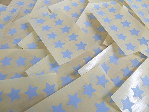 15mm Pálido Azul Cielo Con Forma De Estrella Etiquetas, 180 auta-Adhesivo Código De Color Adhesivos, adhesivo Estrellas para Manualidades y Decoración