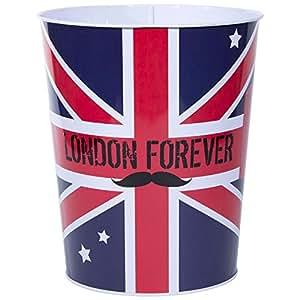 londres poubelle corbeille m tal drapeau londres royaume uni london forever cuisine. Black Bedroom Furniture Sets. Home Design Ideas