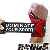Handgelenkbandage für Athleten [2er Set] Profi Wrist Wraps für Kraftsport, Bodybuilding, Powerlifting, CrossFit & Fitness - Bandage für Frauen & Männer - Mit Videoanleitung & 2 Jahre Gewährleistung