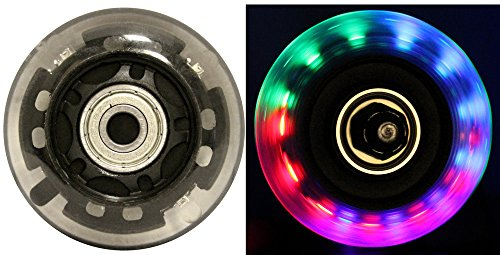 Blank Inline Skate Wheels 64mm Clear LED multicolor 82a