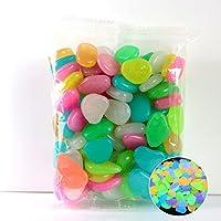 Tabanlly - Guijarros de Colores (100 y 50 Unidades, sin Plomo, no tóxicos), Colores Vibrantes para decoración, Mixed Colors, 50pcs