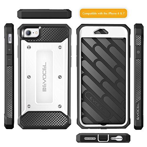 iPhone 7 Case / iPhone 6 Case, Evocel [Explorer Series] Premium Hybrid Protector [Dual Layer][Belt Swivel Clip] For iPhone 7 / iPhone 6 & 6s, White (EVO-IPH7-ZZ18) White