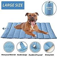 furrybaby - Alfombrilla Portátil Impermeable Suave para Perro, para Cama de Perro, Cojines, Manta Interior o Exterior, Color Azul (68 x 110 cm)