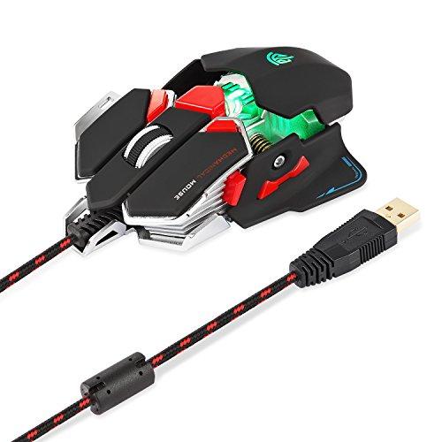 [Regalo para Padre] EasySMX Ratón con Cable (USB, 4000 DPI, RGB Luz)