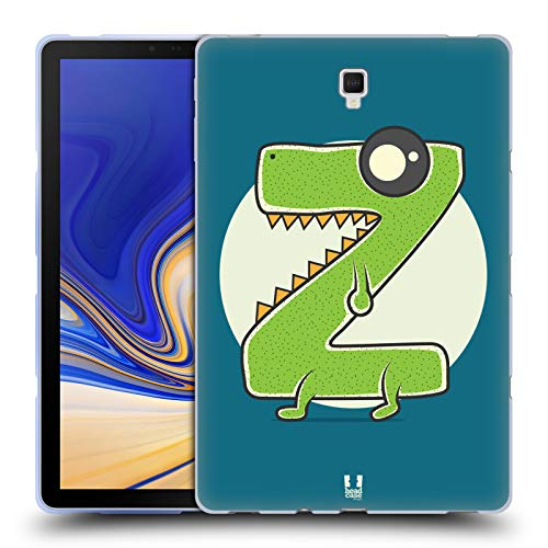 Head Case Designs Rasierer Z Alphabet Monster Soft Gel Hülle für Samsung Galaxy Tab S4 10.5 (2018)