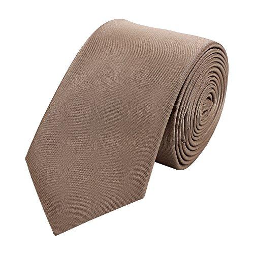 Krawatte schmal von Fabio Farini in braun einfarbig
